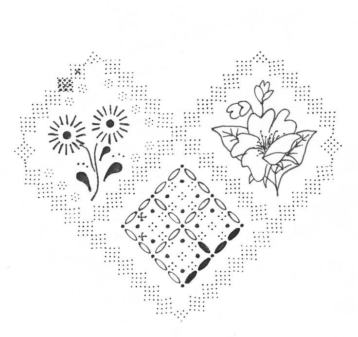 шаблон для пергамано сердце