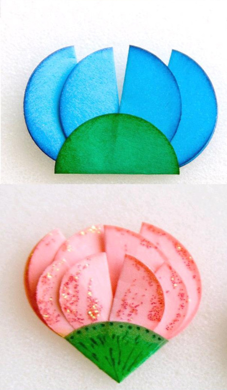 поделки +из бумаги цветы