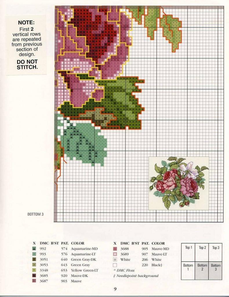 вышивка крестом схемы бесплатно розы