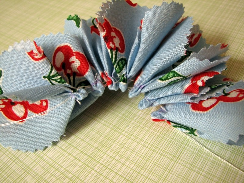 мастер класс цветов +из ткани