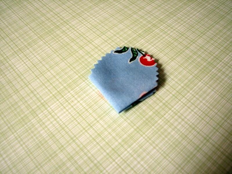 мк цветок из ткани
