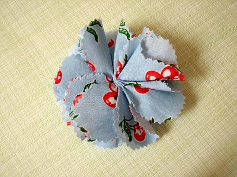 цветы +из ткани мастер класс