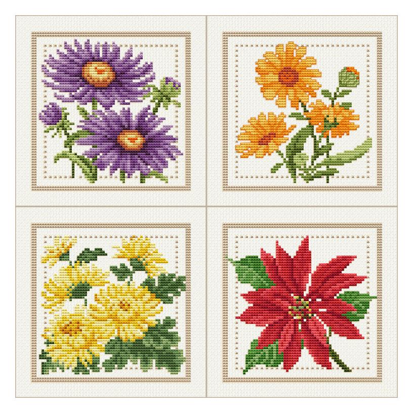 вышивка крестом бесплатные схемы цветов