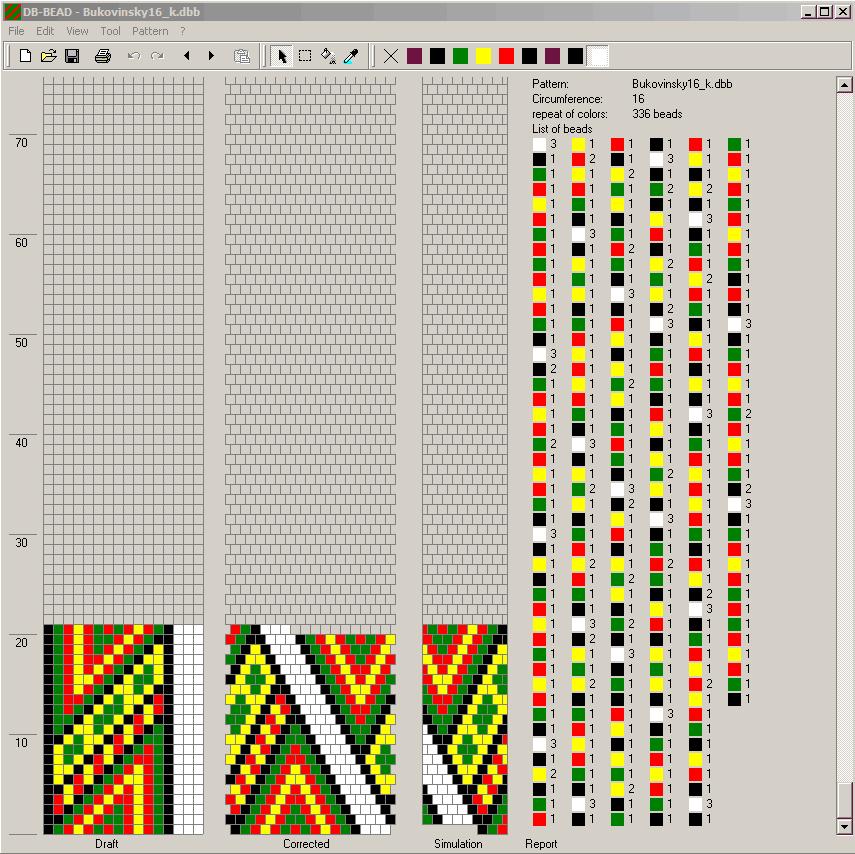 схема вязания бисерного жгута