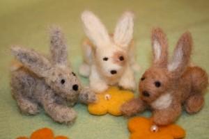 сухое валяние кролик