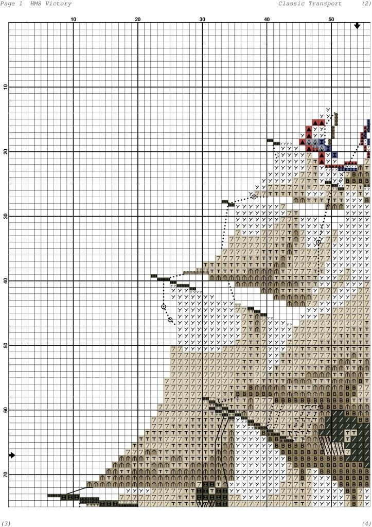Корабль схема для вышивки крестиком 3