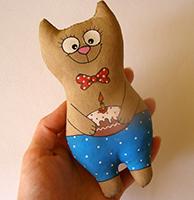 кофейная игрушка кот выкройка мастер класс