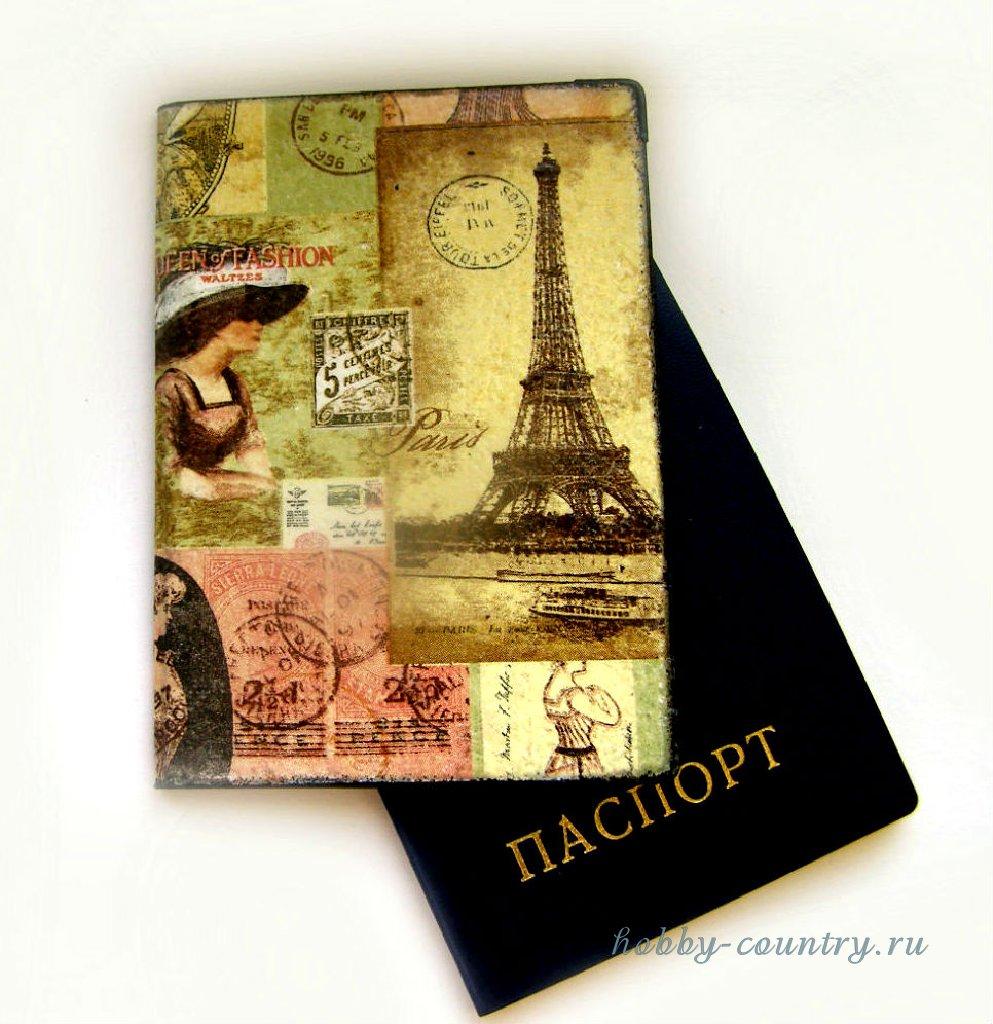 декупаж обложки +на паспорт