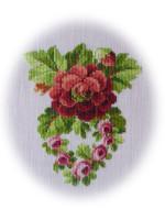 вышивка крестом цветы схемы маленькие