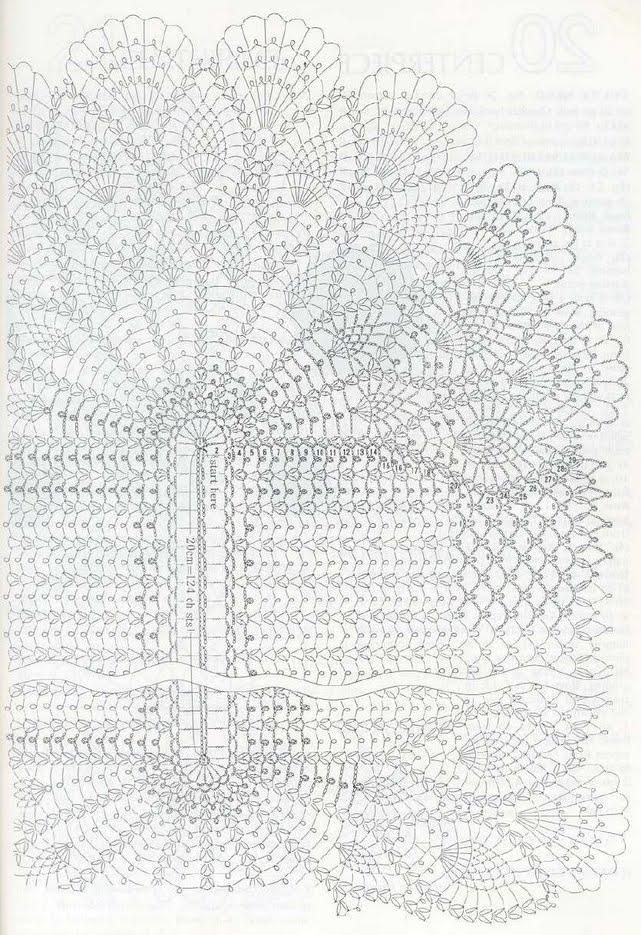 схема салфетки крючком