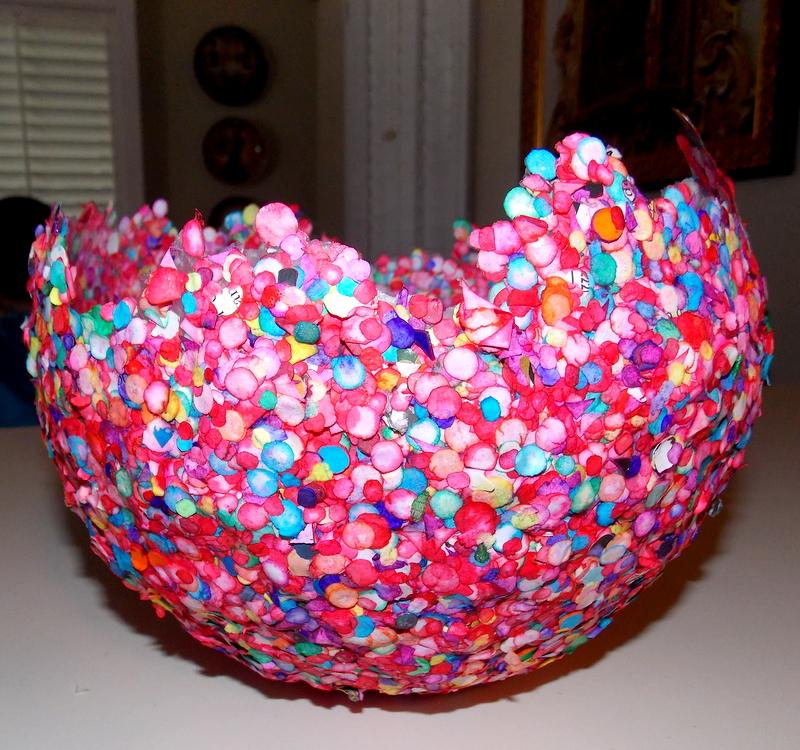 ваза папье маше
