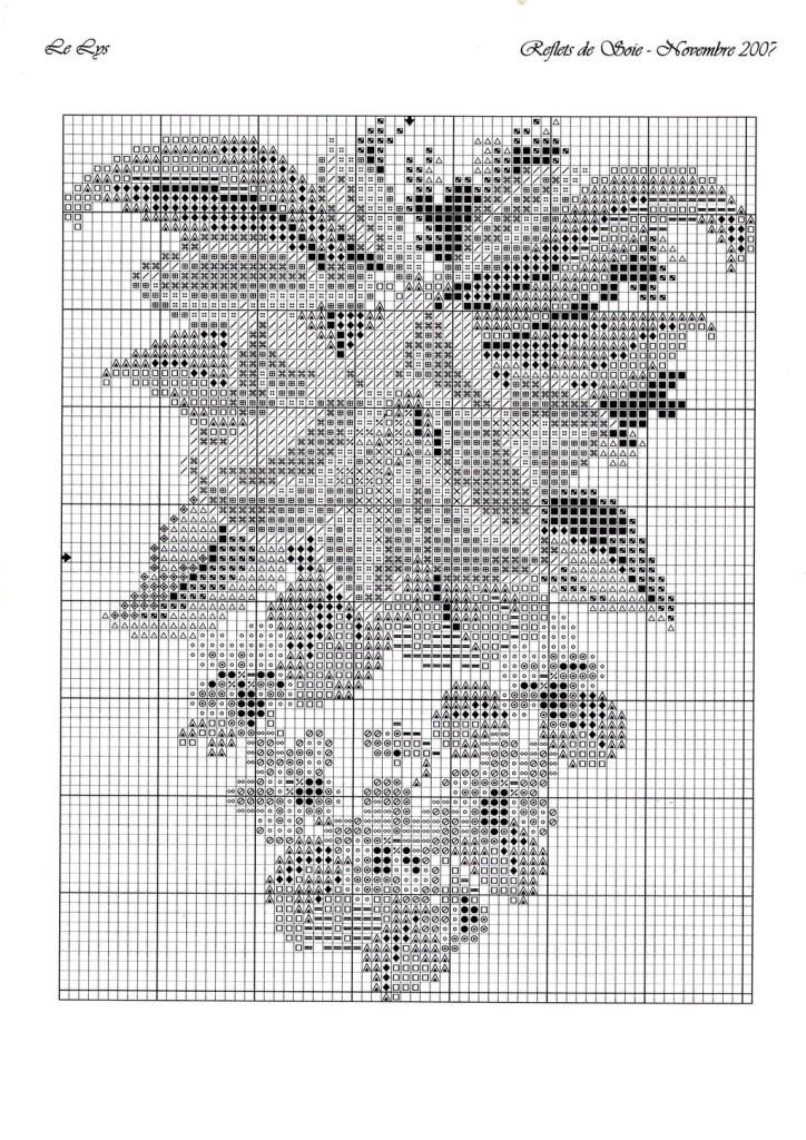 скачать схемы вышивки цветы