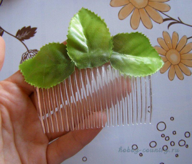 гребешок для волос с цветами мастер класс