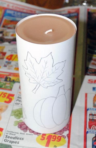 как сделать свечу с объемным рисунком