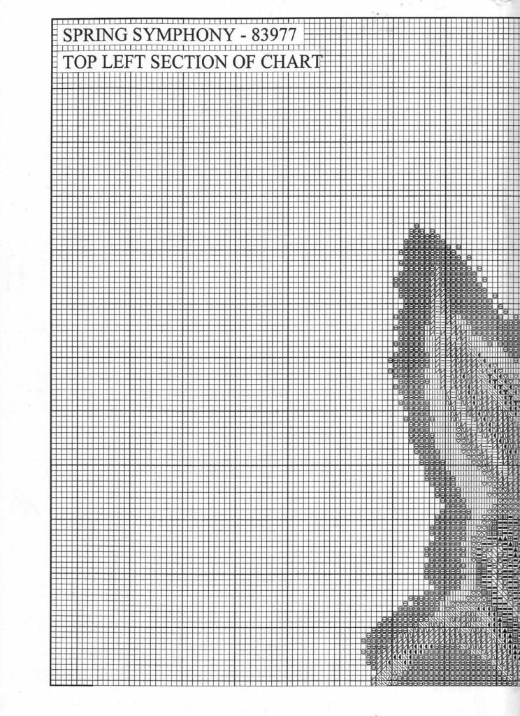 схема букет вышивка крестом