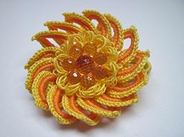 резинка для волос с цветком и бусинами мастер класс