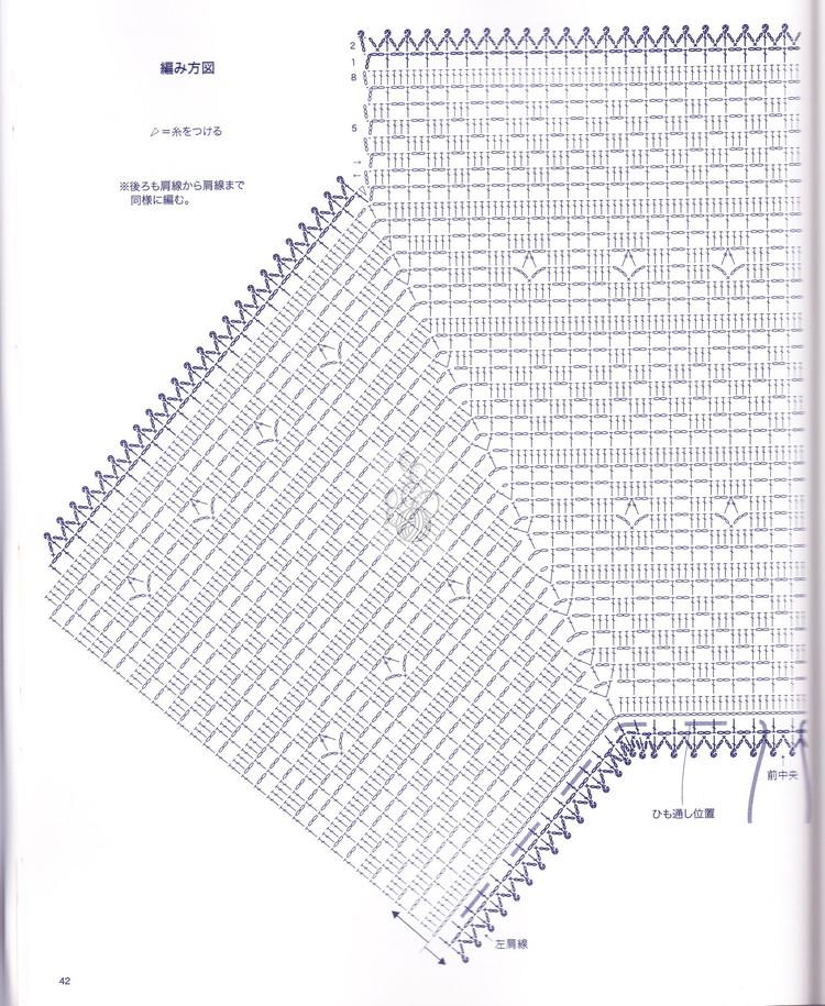 летняя кофточка крючком схема