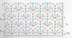 схема вязания комплекта в коляску