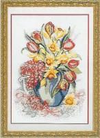 нарциссы и тюльпаны схема для вышивки бесплатно