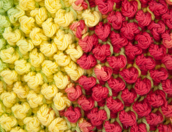 мочалка тунисское вязание