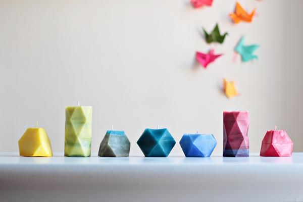 геометрические свечи своими руками