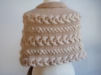 шарф накидка с косами