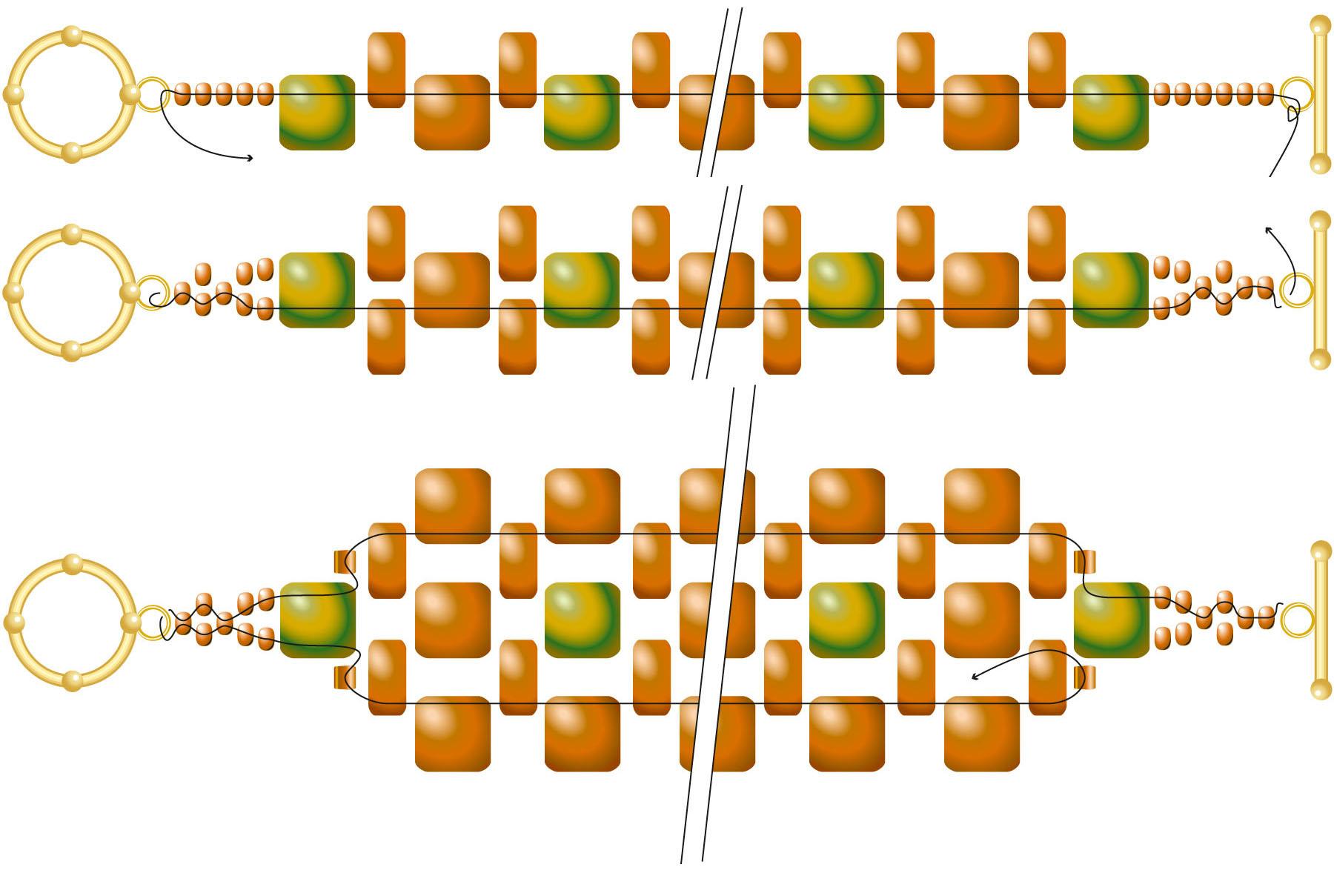 Браслет из квадратных бусин схема
