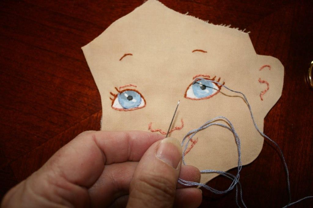 лицо для текстильной куклы