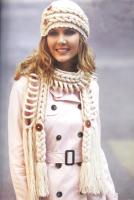 узор косы шапка шарф