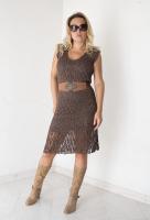 вязание крючком схемы платья