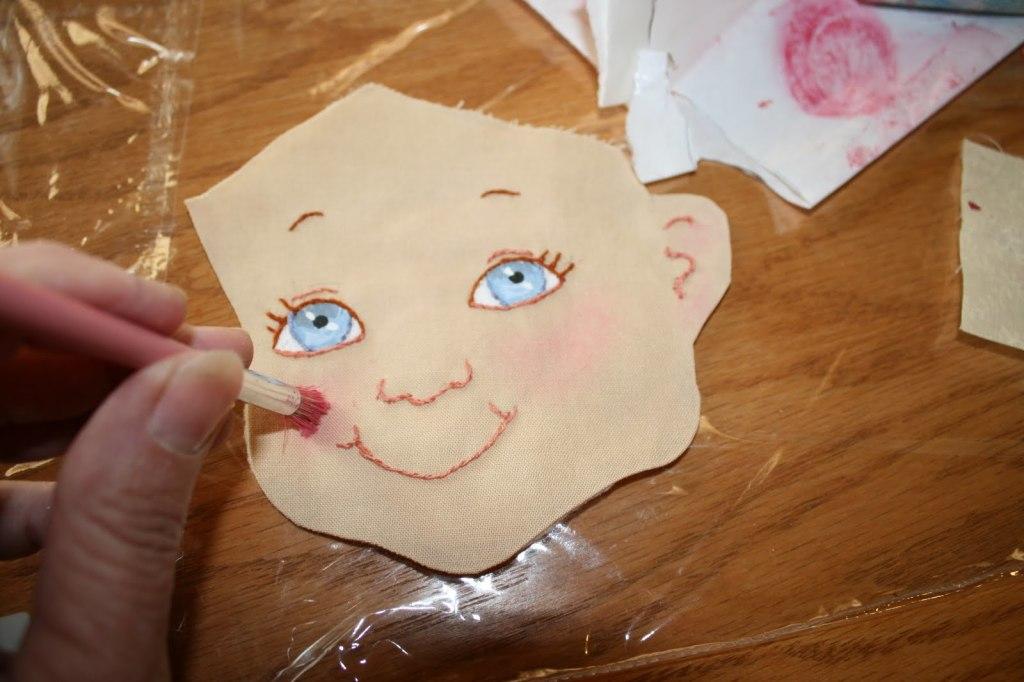 лицо текстильной куклы мастер класс