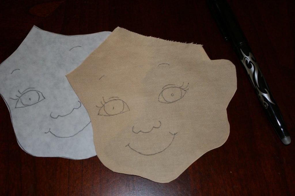 изготовление лица куклы