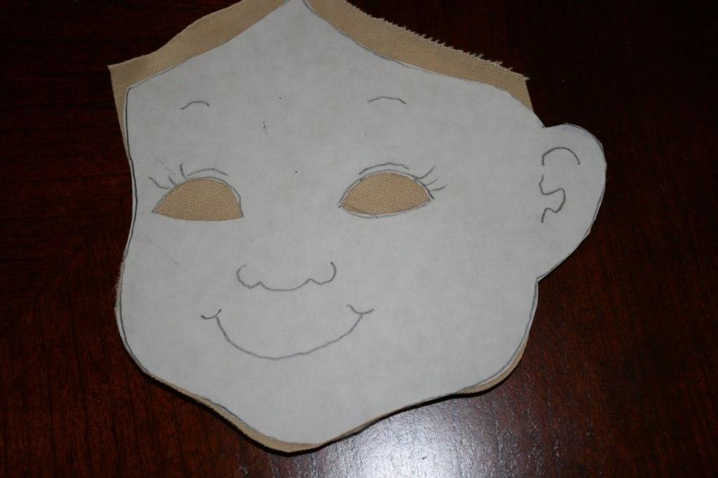 лицо тряпичной куклы