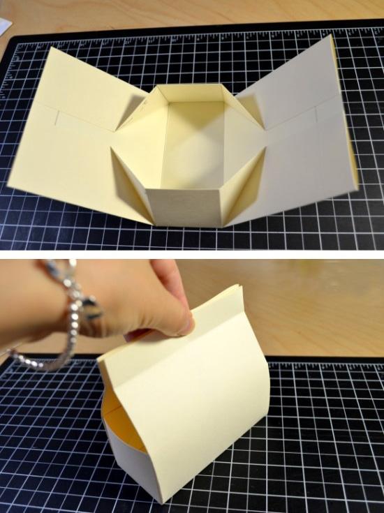 сумочка из бумаги схема