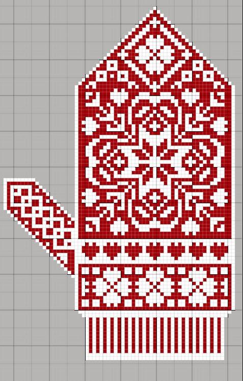 варежки схема вышивка