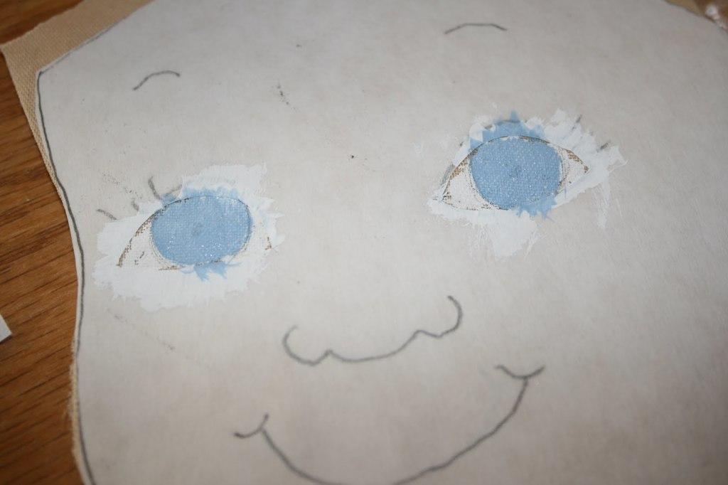 как нарисовать лицо текстильной куклы