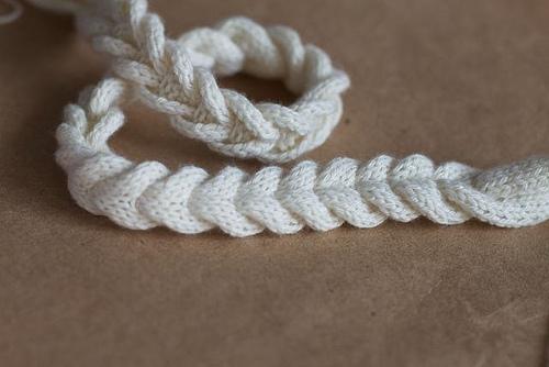 вязание косички спицами