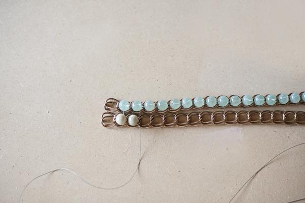 браслет с бусинами как сделать