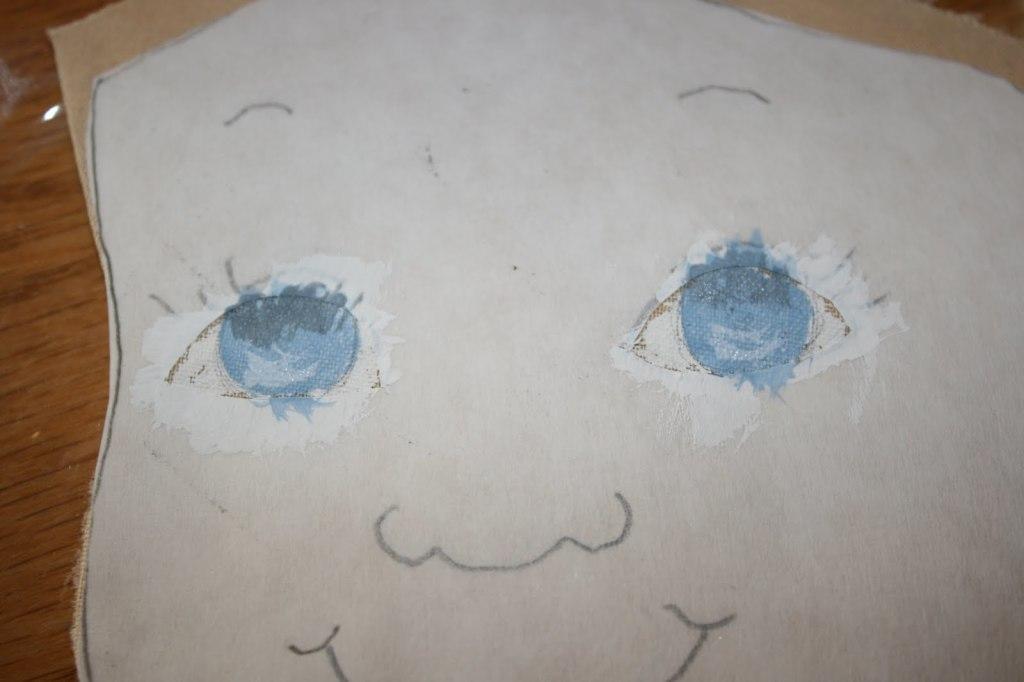 как сделать лицо текстильной кукле