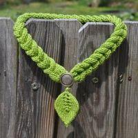 ожерелье вязанная коса