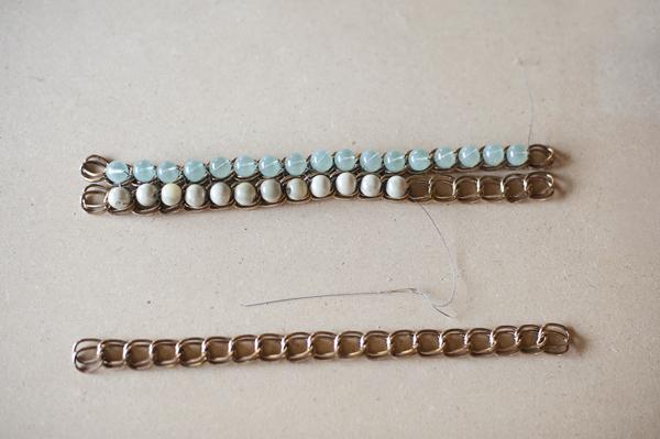 браслет с цепочкой и бусинами мастер класс