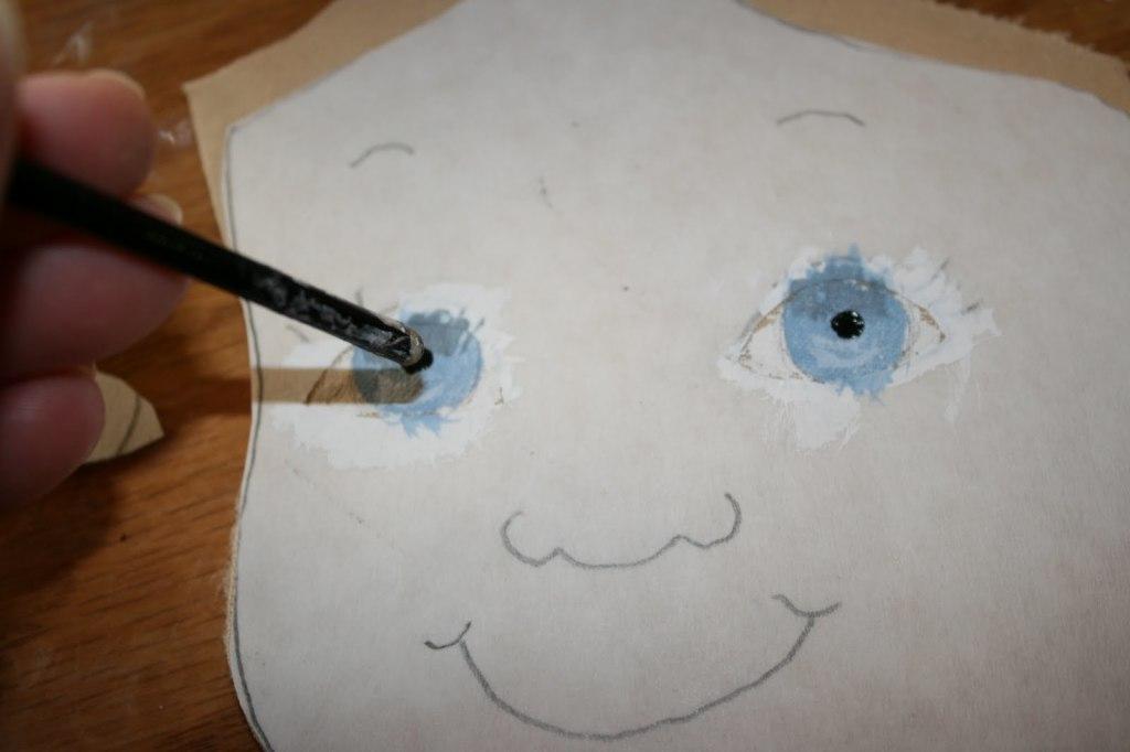 лицо текстильной куклы мк