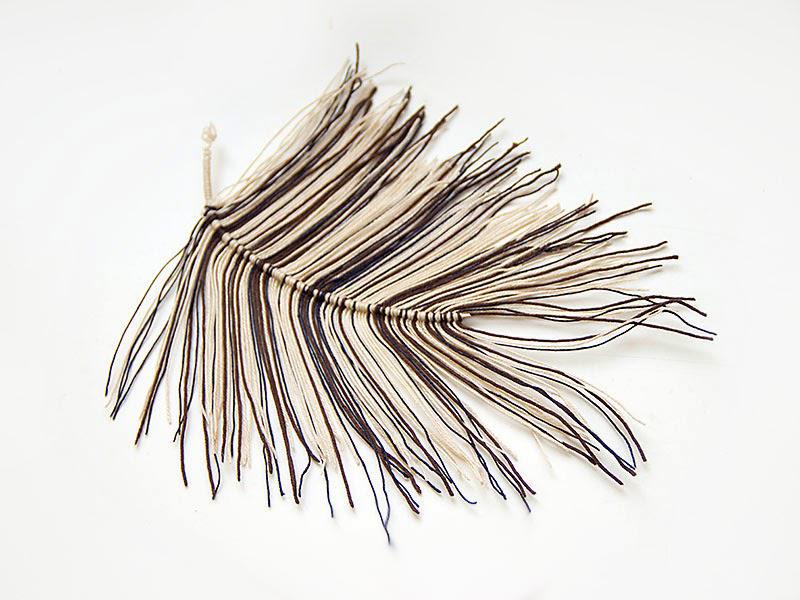 перья из ниток своими руками