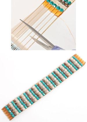 как закрепить замок на браслете