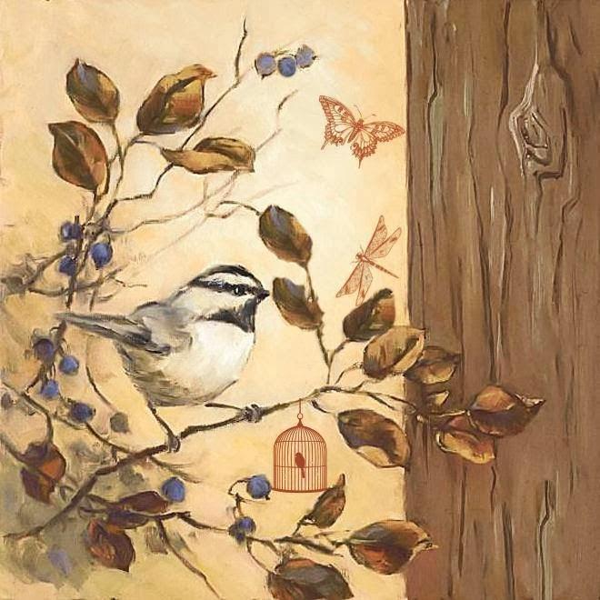 рисунки для декупажа птицы