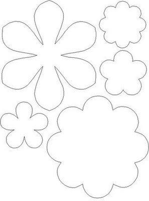 шаблон цветы из бумаги