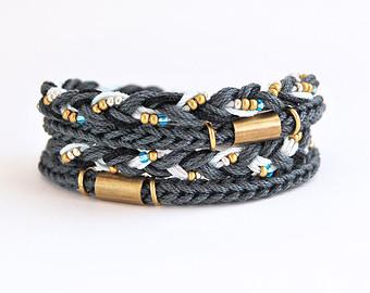 браслет вязанные косички