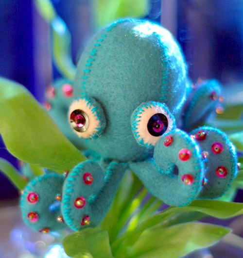 игрушка из фетра осьминог