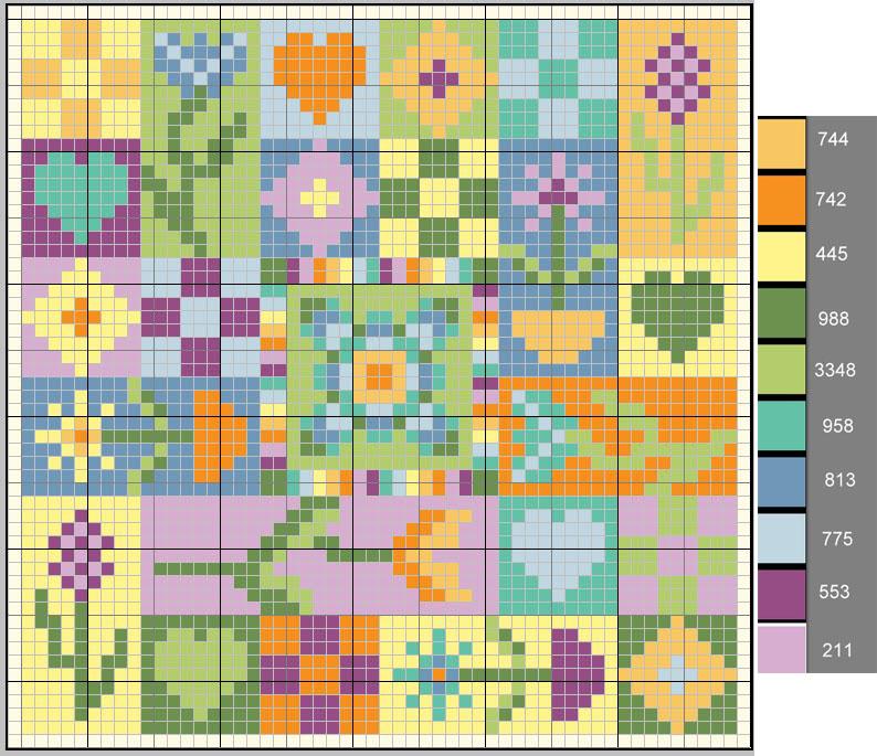 схема вышивки · игольницы