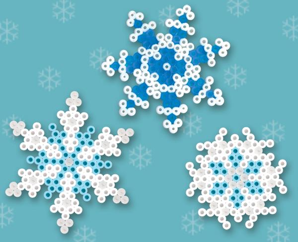 снежинки из термомозаики,